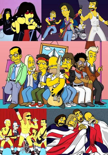 Roqueros en Los Simpson